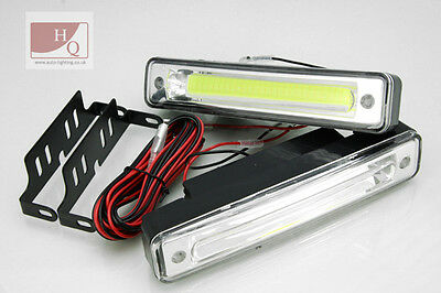 DRL Daytime Running Lights LED Fog B COB PLASMA HIGH POWER fit JAGUAR