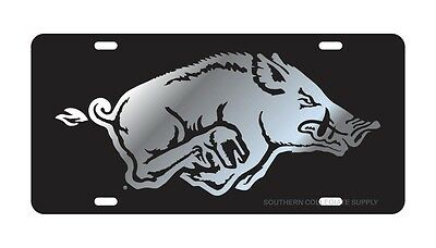 Signs 4 Fun Slcar AR Razorbacks Hog License Plate