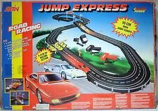 ARTIN VTG 90's JUMP EXPRESS FERRARI RACE SET SLOT CAR TRACK SEALED CONTENTS HUGE
