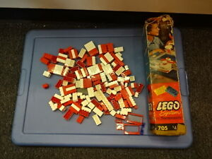Old-Vtg-Antique-Collectible-Samsonite-705-Lego-System-Set-With-Original-Box