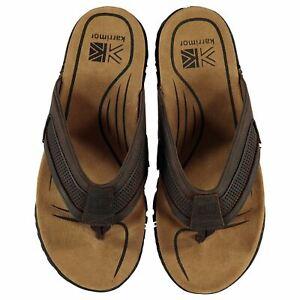 Karrimor-Lounge-Flip-Flops-Mens-Gents-Toe-Post-Leather-Upper-Suede