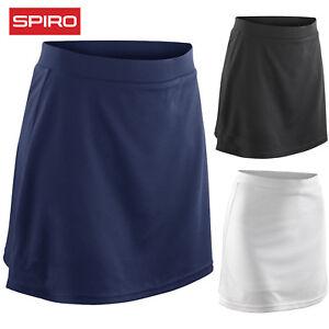 SPIRO-LADIES-SKORT-SPORT-HOCKEY-TENNIS-NETBALL-SHORTS-SKIRT-WINDPROOF-QUICK-DRY