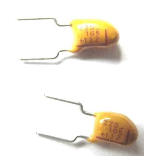 2.2uf 16v 10/% segnalato 225 16 K taglia 4.5mmx8.9mm Lead 5mm Tantalio Perline x5pcs