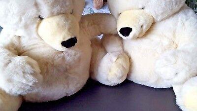 'linden Giftware' Teddy Bears (two, Seated, Cream) ('soft Sentiments') Zowel De Kwaliteit Van Vasthoudendheid Als Hardheid Hebben