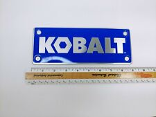 Blue Kobalt Tin Banner Sign Plate Retail Store Shop Tools Man Cave 9 X 35