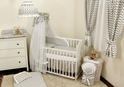 10pcs BabyBeddingSet //Bumper//Canopy //Holder//Quilt//CANOPY for Cot Bed or Cot