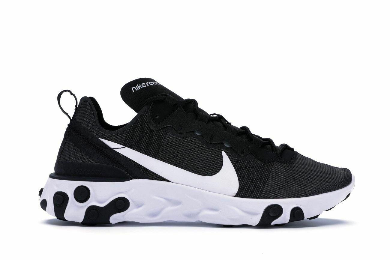 Mens Nike React Element 55 Black White BQ6166-003