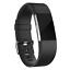Indexbild 1 - Ersatz Silikon Armband in Schwarz für Fitbit Charge 2 Fitness Sport Tracker