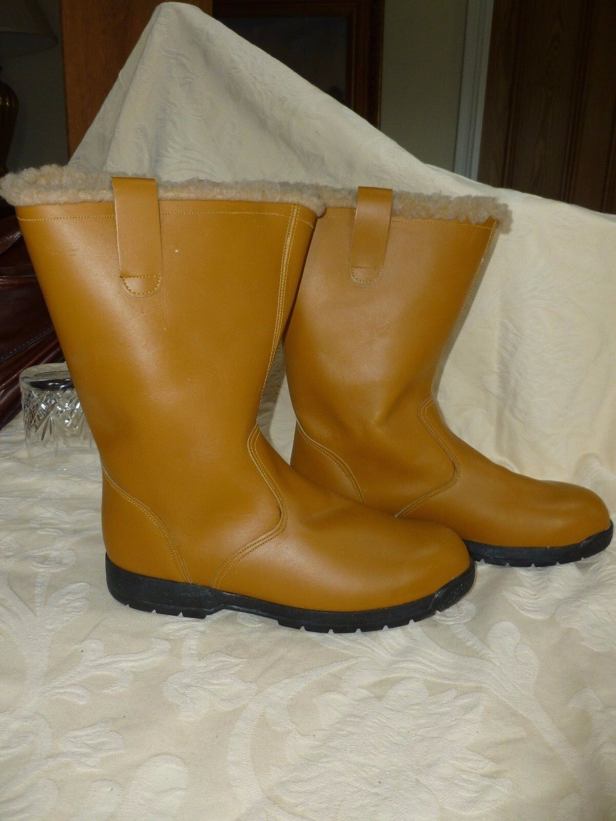 Equitector laine cuir doublé Yard bottes R RP  UK 8 made in England