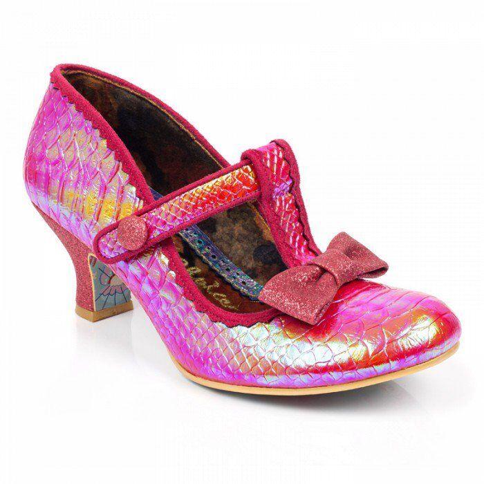 Irregular choice lazy river pink gorgeous heels