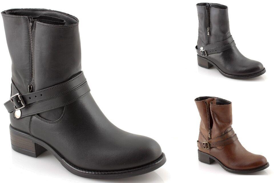 botas de marrón mujer CICLISTA invierno piel en negro grays marrón de made in Italy 2f7d4a