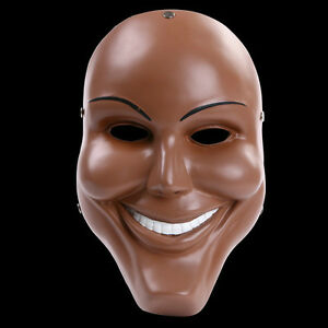 Details About Men Scary Smile Face Mask Halloween Resin The Purge Anarchy  Movie Costume Mask