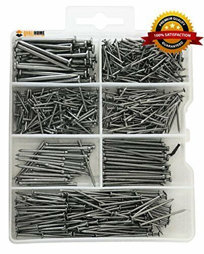 Brad and Picture Nails Finish Wire Common Hardware Nail Assortment Kit