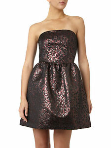 Pied-A-Terre-RRP-150-House-of-Fraser-Dark-Purple-Red-Brown-Cocktail-Party-Dress