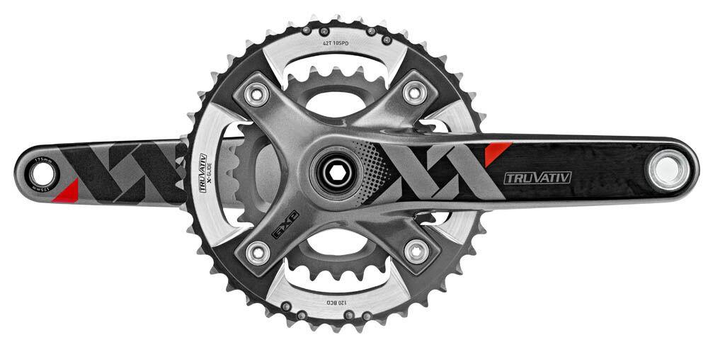 SRAM Truvativ XX 2x10 Speed Carbon MTB GXP Crankset Q166mm 26 39 x 175mm