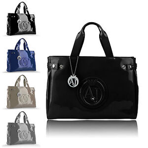 Nero Jeans Vernice Shopping Bag Is Borsa Armani Blu Loading Image EH2bWIeD9Y