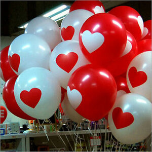 50 100pcs heart shape latex balloon birthday wedding for B day decoration at home