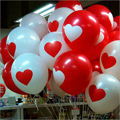 2015 50/100pcs Heart Latex Balloon Birthday Wedding Valentine's Party Decor 12""