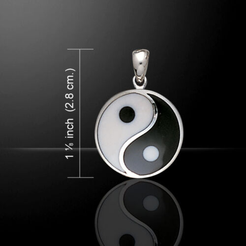 Yin Yang .925 Sterling Silver Pendant by Peter Stone Jewelry