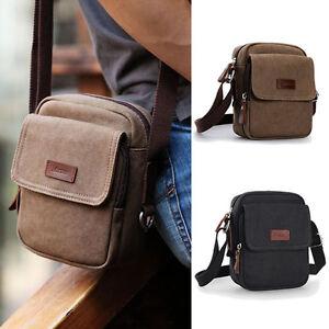 NWT-Men-039-s-Retro-Cotton-Canvas-Small-Mini-Crossbody-bag-Shoulder-bag-Casual