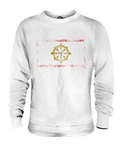SIKKIM DISTRESSED FLAG UNISEX SWEATER TOP FOOTBALL GIFT SHIRT CLOTHING JERSEY