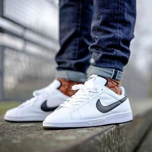 the latest a58dc 6ba0f Nike Tennis Classic Mens Shoes Trainers White Black Leather 312495-129  SIZES NEW   eBay