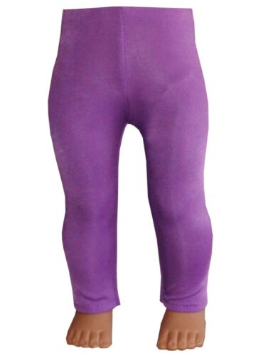 "Purple White Pink or Teal Lycra Leggings fit 18/"" American Girl Size Doll"