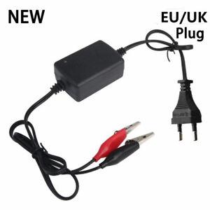 Car-Truck-Motorcycle-12V-Alligator-Clip-Accumulator-Charger-EU-Plug-UK-BS-Plug