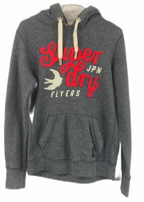 Superdry Women's Heather Blue Graphic Long Sleeve Hooded Fleece Sweatshirt Sz L   eBay