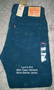 jean Slim 33x32 hommes Levi's à délavé en Jeans pour Nwt 512 l'acide délavé tAZqzHz