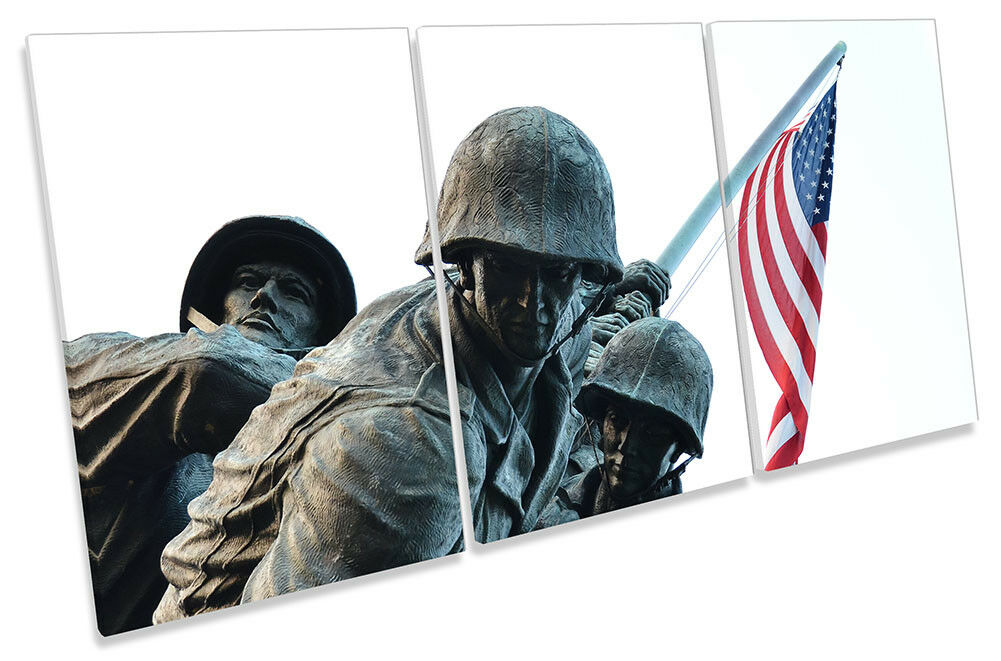 United States Memorial Military Bild CANVAS Wand Kunst TREBLE Drucken
