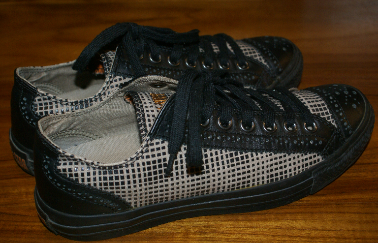 CONVERSE Chucks Sneaker mit Leder schwarz sand Gr. 38 UK 5,5