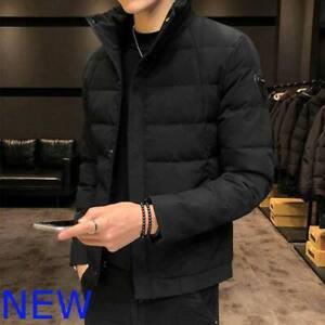 Parka-Thicken-Jacket-Coat-Hooded-Overcoat-Outwear-Faux-Fur-Warm-Winter-Men-039-s