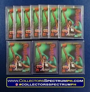 Tim Duncan 1997 Rookie Skybox Z-Force NBA Cards w/ Free Top Loader - 1,000 EACH