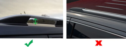 Black Cross Bars For Roof Rails To Fit Volkswagen Amarok 2010+ 100KG Lockable