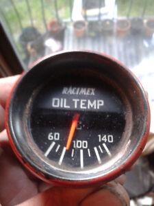 100-340F 21641AF 52mm mech silver face, oil temperature gauge Splitfire