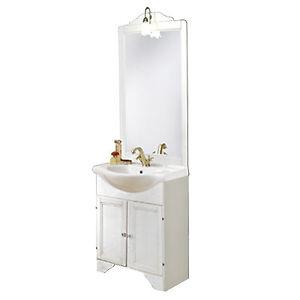 Mobile bagno classico legno decape 39 bianco lavabo cm 65 applique arredo shabby ebay - Mobile bagno classico bianco ...