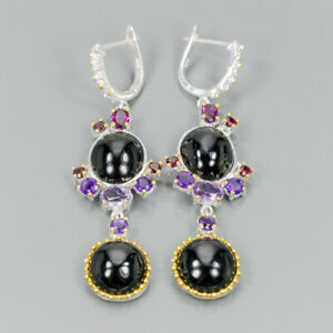 Design-Shop-jewelry-Natural-Spinel-925-Sterling-Silver-Earrings-E32294
