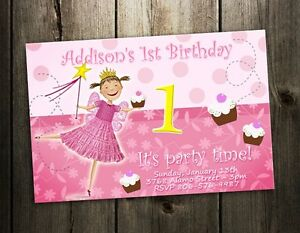 PINKALICIOUS BIRTHDAY PARTY INVITATION CARD CUSTOM INVITE