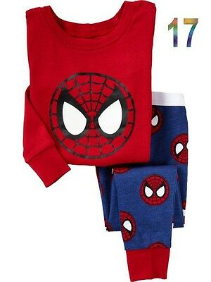 Hot! Cotton Sleepwear Pajama Sets for Baby Toddler Kids Boys Girls / Size 1T~6T