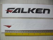 2 FALKEN Tyres di-cut vinyl sticker decals, JDM aftermarket racing sponsor.