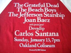GRATEFUL-DEAD-BEACH-BOYS-CARLOS-SANTANA-VTG-CONCERT-T-SHIRT-JANUARY-13-1980-M
