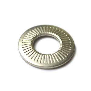 10 Belleville 3//8 Conical Cupped Spring Washers A2 Stainless Steel .375