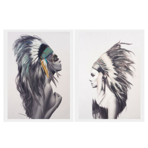 2Pcs//Set Wall Art Painting Pictures Print On Canvas Indian Couples Artworks
