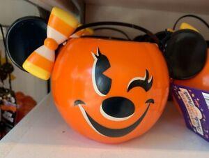 Disney-Parks-2020-Halloween-Minnie-Mouse-Pumpkin-Candy-Bucket-New