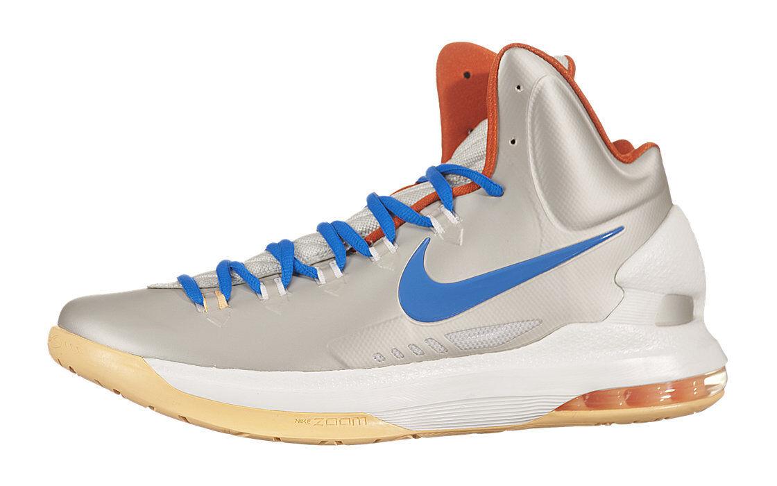 Nike Men KD V 5 Birch Photo bluee Sail Team orange 554988 200 SIZE 9.5 Warriors