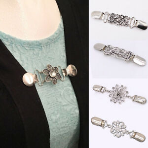 Women-Alloy-Duck-Clip-For-Cardigan-Shawl-Scarves-Blouse-Sweater-Collar-Pin-Clasp