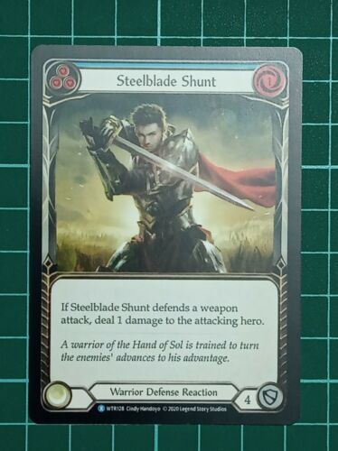 WTR128 Steelblade Shunt R Flesh and Blood TCG Welcome to Rathe NM Details about  /FaB