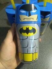 "ZAK!~/""Batman/"" Insulated Tumbler~14 oz~ With Straw /& Screw on Lid~BPA Free~ New!"