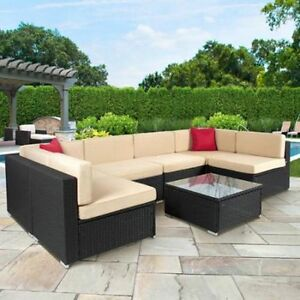 Best Choice Products 7 Pieces Outdoor Patio Garden Wicker Furniture
